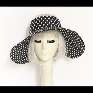 Polka Dot Cotton Wide Brim Sun Hat